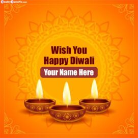 Hindu Festival Diwali Wishes Pictures Edit By Custom Name Text