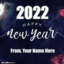 Welcome 2022 Wishes Photo With Name Create Online