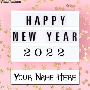 2022 Welcome New Year Wishes Images With Name Generator Tools
