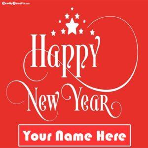 2022 Happy New Year Wishes Name Create Card Free