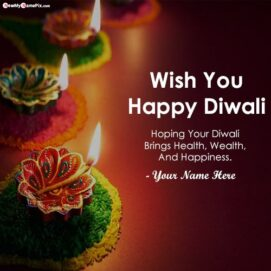 Happy Diwali Quotes Message With Name Wishes Images